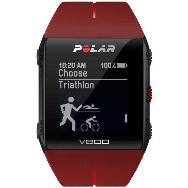 Polar V800 Pulsuhr ohne Brustgurt , Triathlon